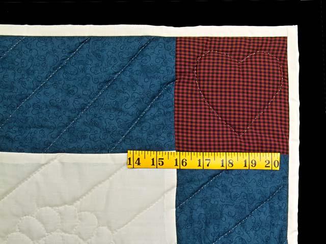 Blue and Burgundy Thomas Train Crib Quilt Photo 5