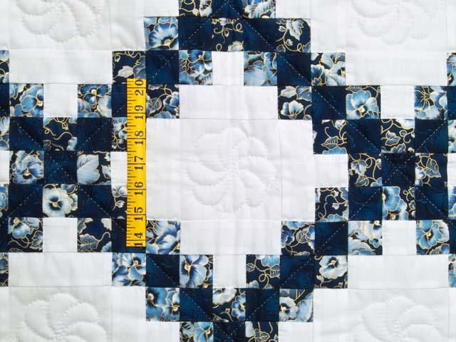 Navy Blue and Cream Irish Chain Crib Quilt Photo 3