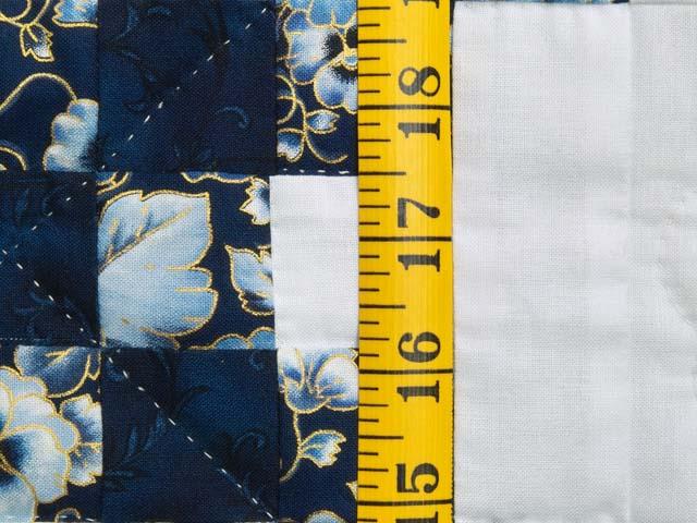 Navy Blue and Cream Irish Chain Crib Quilt Photo 4