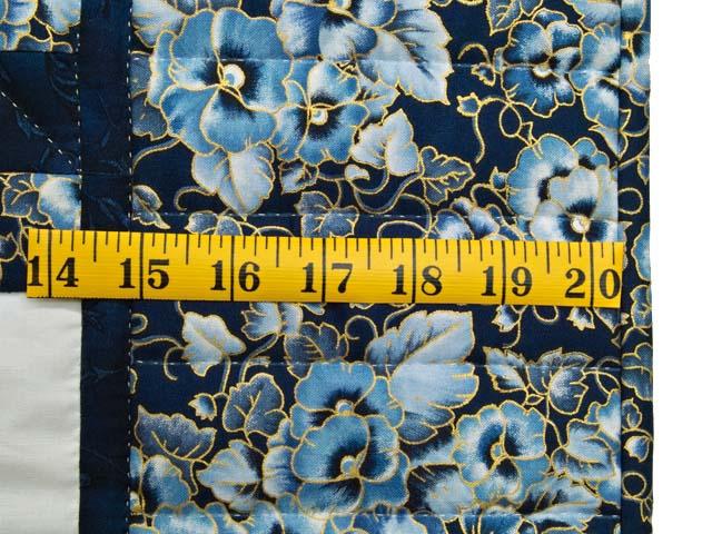 Navy Blue and Cream Irish Chain Crib Quilt Photo 5
