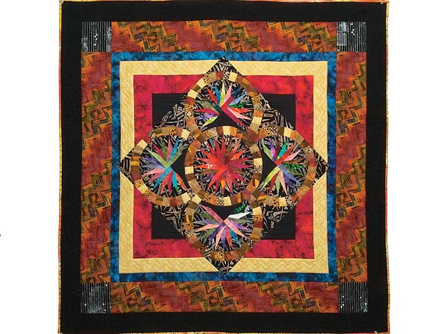 Multicolor Quintuple Compass Star Throw Photo 1
