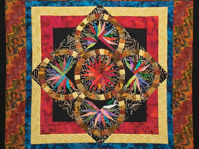 Multicolor Quintuple Compass Star Throw Photo 2
