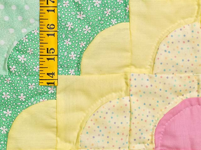 Yellow and Green Ocean Wave Crib Quilt Photo 4