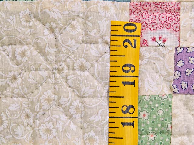 Baby Blue and Multicolor Nine Patch Crib Quilt Photo 4