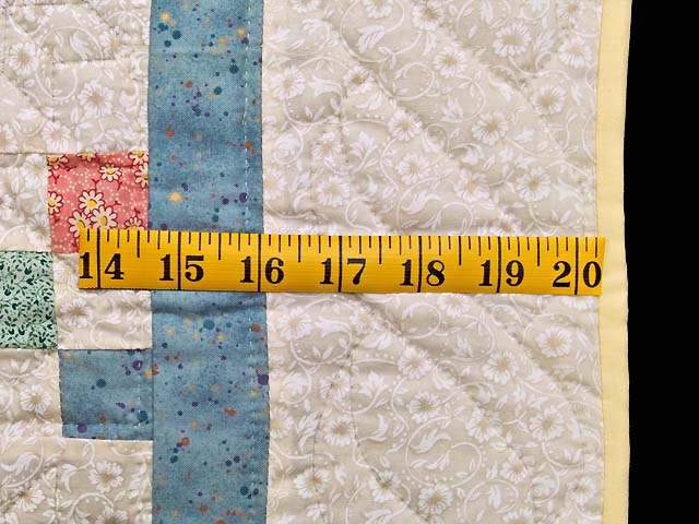 Baby Blue and Multicolor Nine Patch Crib Quilt Photo 5