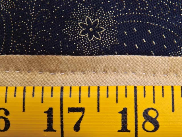 Navy and Burgundy Dahlia Star Log Cabin Wall Hanging Photo 7