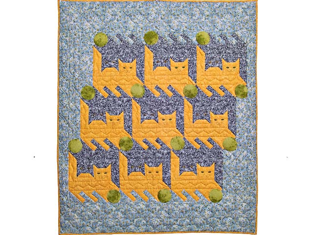 Topsy Turvy Cats Crib Quilt Photo 1