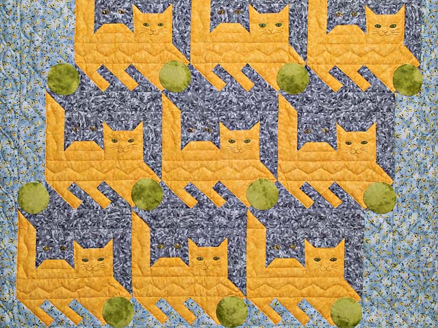 Topsy Turvy Cats Crib Quilt Photo 2