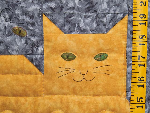 Topsy Turvy Cats Crib Quilt Photo 5