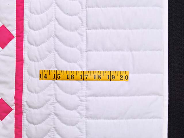 Rose and Cream Nine Patch Crib Quilt Photo 5