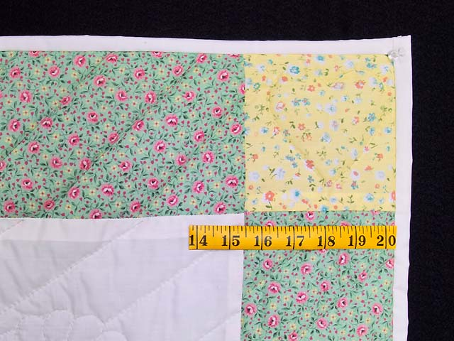 Pastel Green and Yellow Rocking Horse Crib Quilt Photo 5