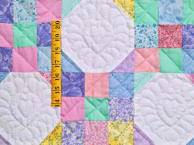 Pastel Green and Yellow Snowball Crib Quilt Photo 3