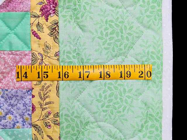 Pastel Green and Yellow Snowball Crib Quilt Photo 5