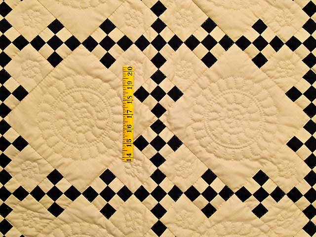 Black and Tan Nine Patch Throw Photo 3