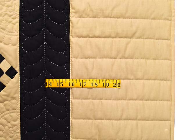 Black and Tan Nine Patch Throw Photo 5