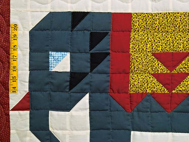 Patriotic Elephant Patchwork Wall Hanging Photo 3