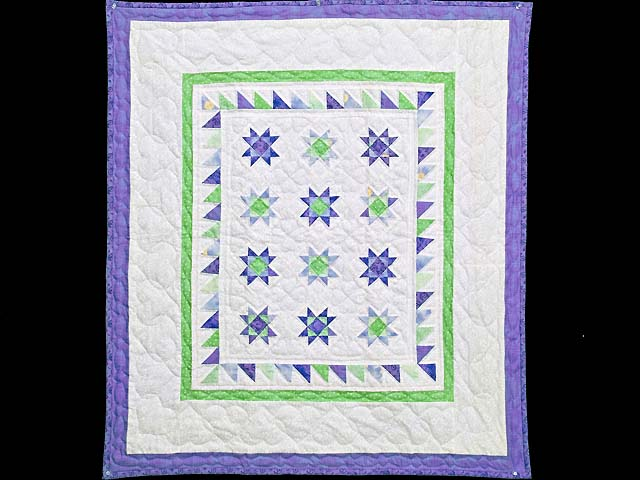 Lavender and Green Ohio Stars Wall Hanging Photo 1