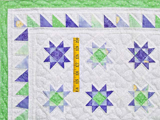 Lavender and Green Ohio Stars Wall Hanging Photo 3