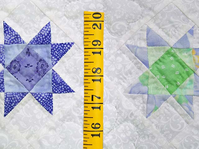 Lavender and Green Ohio Stars Wall Hanging Photo 4