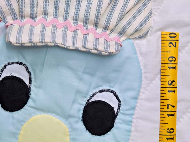 Blue and Raspberry Thomas Train Crib Quilt Photo 4