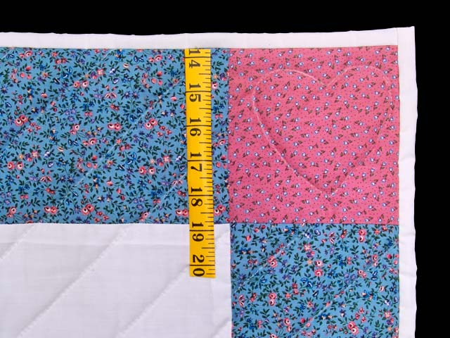 Blue and Raspberry Thomas Train Crib Quilt Photo 5