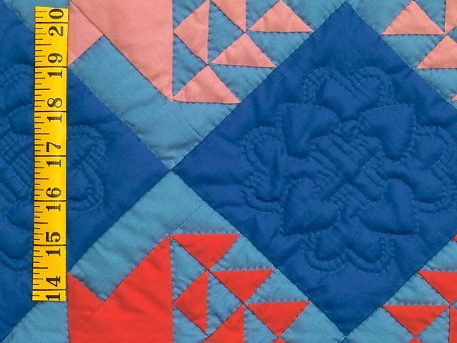 Indiana Amish Baskets in Blue Quilt Photo 4