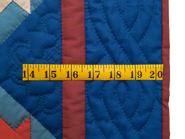 Indiana Amish Baskets in Blue Quilt Photo 5