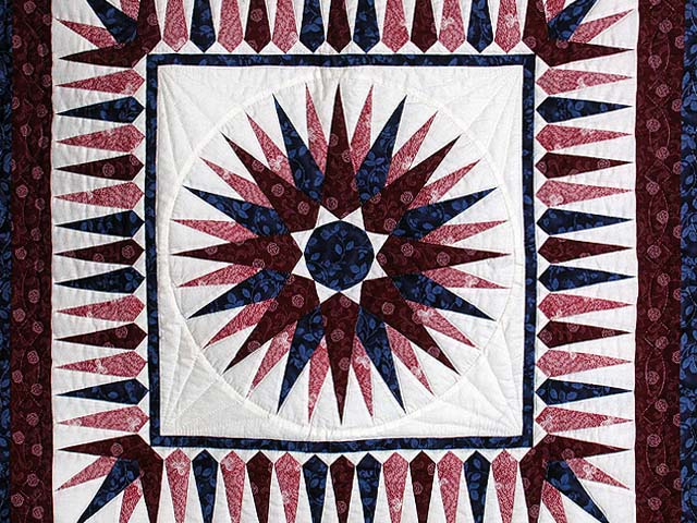 Navy and Burgundy Mariners Compass Wall Hanging Photo 2