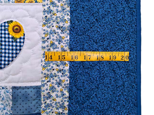 Blue and Yellow Hearts and Nine Patch Wall Hanging Photo 5