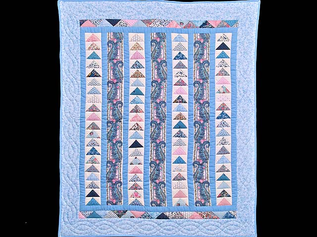 Pastel Flying Geese Crib Quilt Photo 1