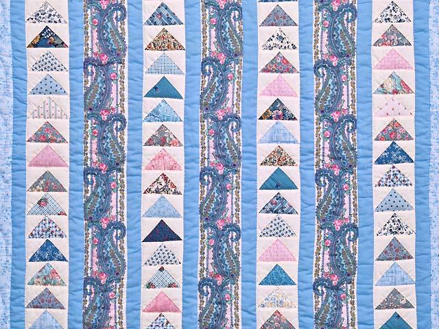 Pastel Flying Geese Crib Quilt Photo 2