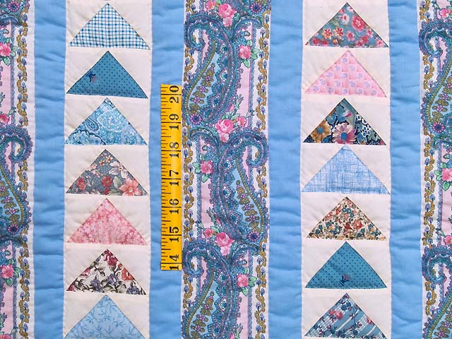 Pastel Flying Geese Crib Quilt Photo 3