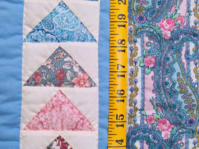 Pastel Flying Geese Crib Quilt Photo 4