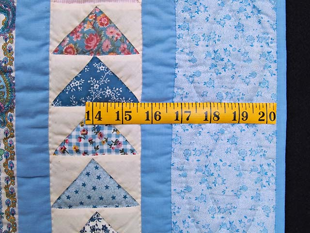 Pastel Flying Geese Crib Quilt Photo 5