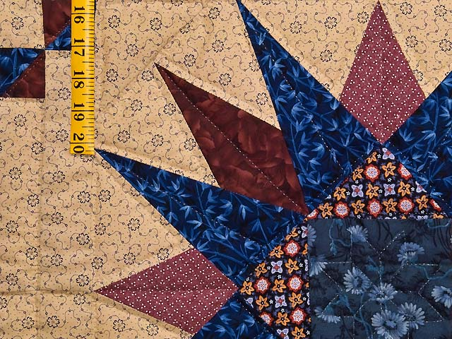 Navy Burgundy and Tan Compass Star Wall Hanging Photo 4