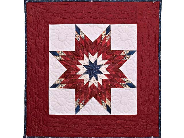 Burgundy and Blue Lone Star Wall Hanging Photo 1