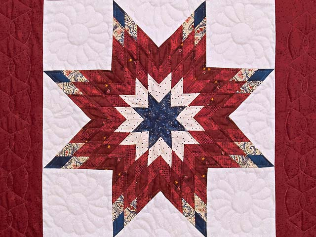 Burgundy and Blue Lone Star Wall Hanging Photo 2