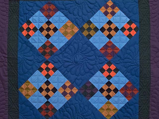 Double Nine Patch Quilt -- gorgeous skillfully made Amish Quilts ... : double nine patch quilt - Adamdwight.com