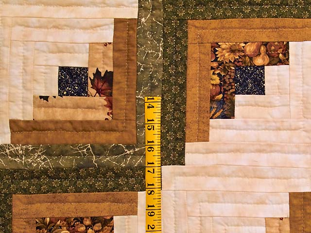 Earth Tones Log Cabin Throw Photo 4