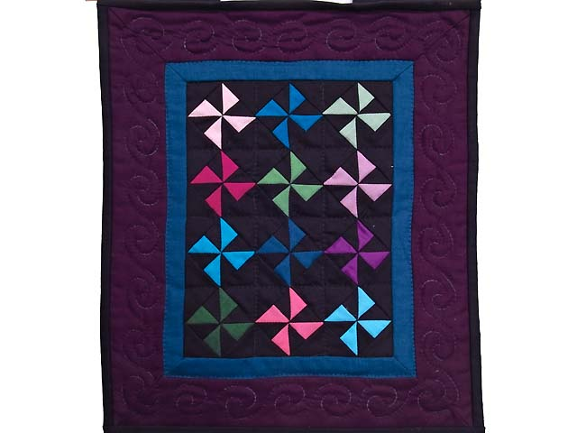 Miniature Almost Amish Pinwheel Quilt Photo 1