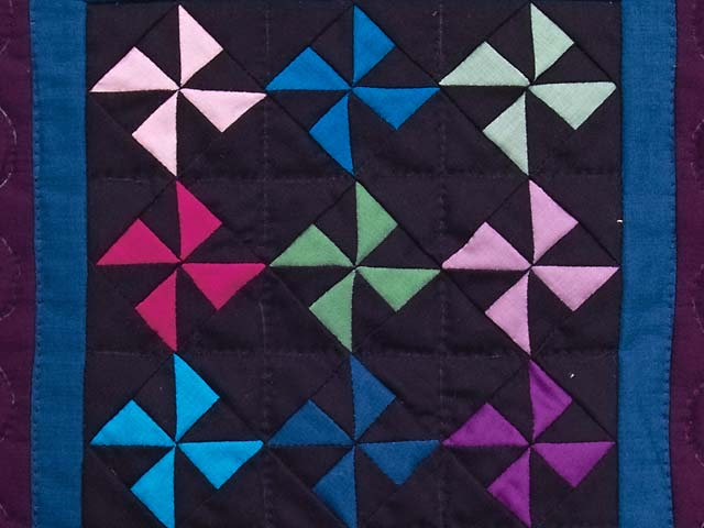 Miniature Almost Amish Pinwheel Quilt Photo 2
