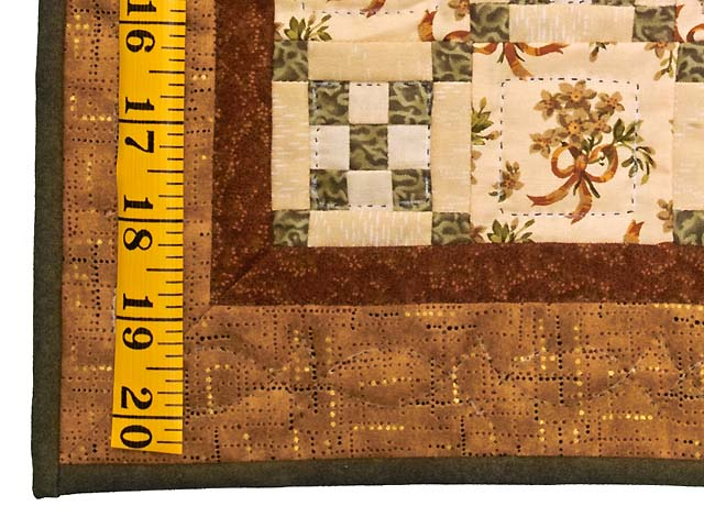 Miniature Double Nine Patch with Bouquet Quilt Photo 3