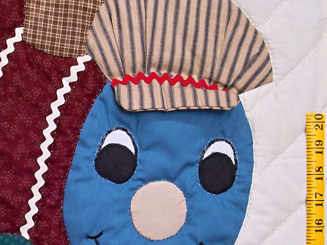 Burgundy and Navy Plaid Thomas Train Crib Quilt Photo 4