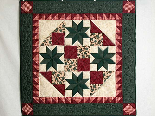 Red and Green Starburst Wall Hanging Photo 1