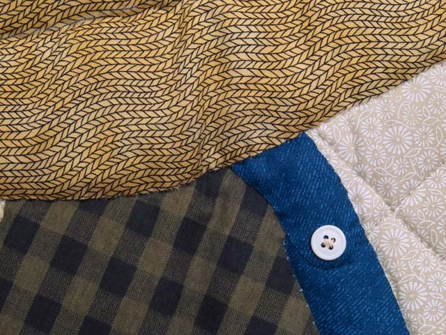 Blue and Plaid  Fisher Boy Appliqué Crib Quilt Photo 5