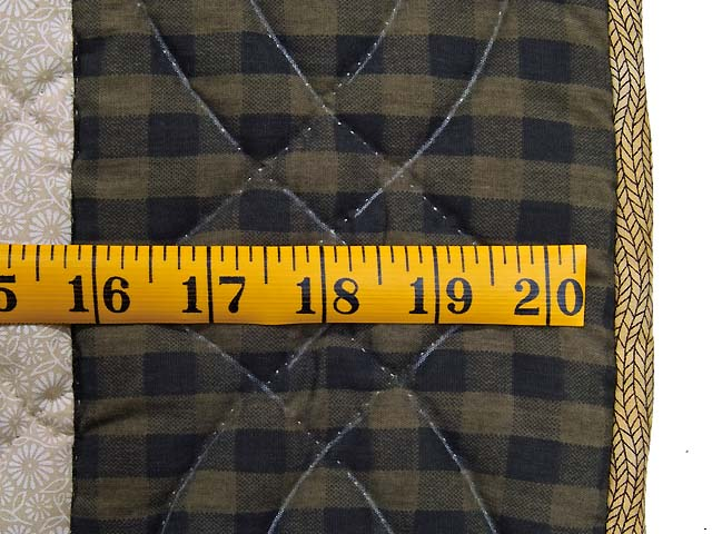 Blue and Plaid  Fisher Boy Appliqué Crib Quilt Photo 6