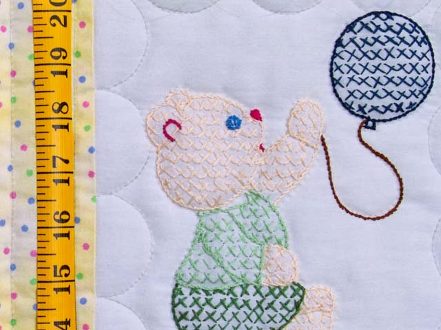 Embroidered Bears Crib Quilt Photo 4