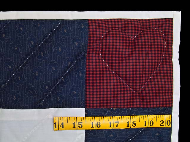 Navy and Burgundy  Rocking Horse Crib Quilt Photo 5