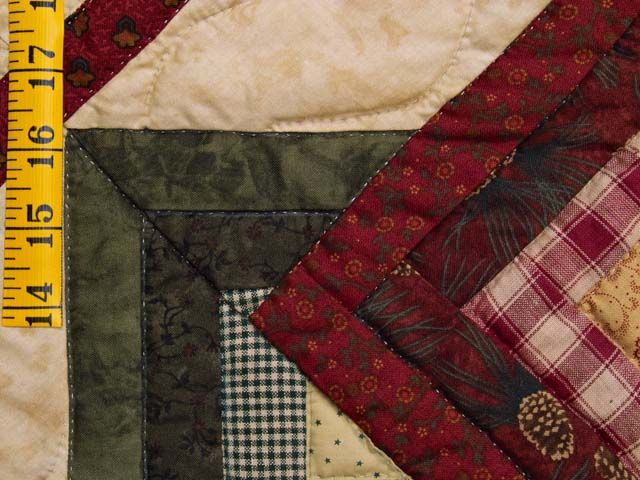 Green Burgundy and Tan Star Spin Wall Hanging Photo 4