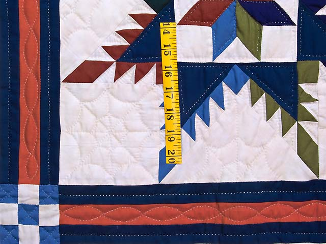 Multicolor Feathered Edge Star Crib Quilt Photo 3